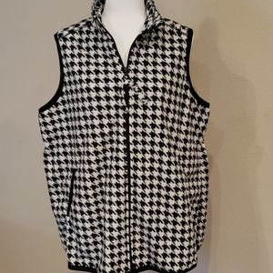 WOMAN WITHIN Houndstooth Fleece Vest 2X 18 20